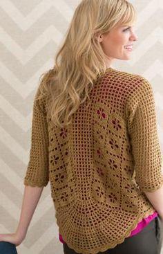 Spirited Cardigan - Free downloadable PDF crochet pattern in UK terms: http://www.redheart.co.uk/files/patterns/pdf/LW4609EN.pdf