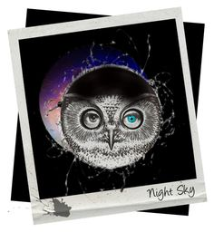 """""""Night Sky"""" by kitty-kimber ❤ liked on Polyvore featuring art"""