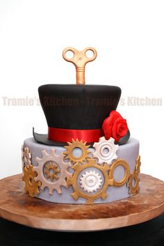 SteamPunk birthday cake by Tramie's Kitchen, via Flickr