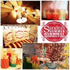 Sandra's Summer Carnival decor at the launch of #bySandraLee
