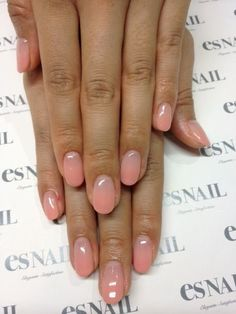 manicure -                                                      gradient sheer pink nail