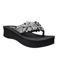 7140077539cbfd Another great find on  zulily! Black Estate Platform Sandal by Grazie   zulilyfinds Graz