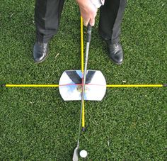 EyeLine Golf Practice T w/ 360* Mirror: It is faster than a camera! The convex shape shows a full view of your swing and stroke.