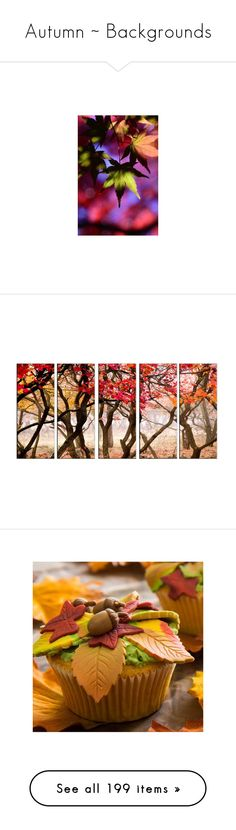 """""""Autumn ~ Backgrounds"""" by pwhiteaurora ❤ liked on Polyvore featuring backgrounds, fall, fall backgrounds, home, home decor, wall art, art, autumn, autumn paintings and framed paintings"""