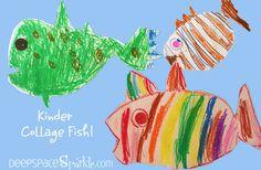 Kindergarten Collage Fish - Deep Space Sparkle BREAKS IT DOWN BY DAYS