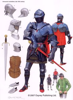 Century Arms & Armor Illustrated by Graham Turner English Medieval Knight Armadura Medieval, Medieval Weapons, Medieval Knight, Armor Clothing, Templer, Military Armor, Landsknecht, Late Middle Ages, Knight Armor