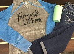 Farmwife Life, Super soft and comfy hoodie, Baseball Raglan Hoodie by INKDBYDESIGN on Etsy
