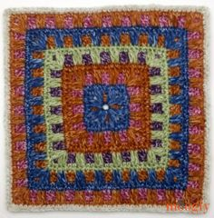 Block 23 in the Moogly Afghan CAL, by Petals to Picots! Crochet Square Blanket, Crochet Blocks, Granny Square Crochet Pattern, Crochet Diagram, Afghan Crochet Patterns, Crochet Squares, Crochet Granny, Granny Squares, Crochet Motif