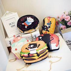 Special Creative Design Cute Bread Hamburger Cake Shape Sweet Mini Women Messenger Bags Cute Chain Bags Women Clutches Bag Tote  (29)