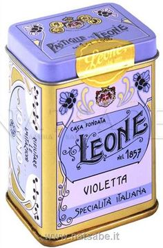 Pastiglie Leone alla Violetta bought these for my dad in Italy...should've bought a few more for gifts...such a pretty box