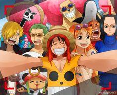 One piece ~ Straw hat crew selfie Nami One Piece, One Piece Anime, One Piece Crew, One Piece World, One Piece Fanart, Akuma No Mi, The Pirates, One Piece Funny, Monkey D Luffy