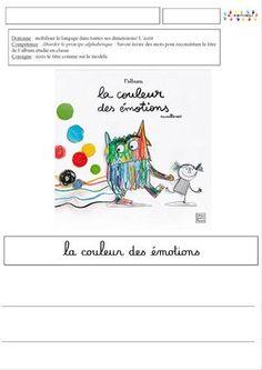 La couleur des émotions : reconstituer ou écrire le titre – MC en maternelle