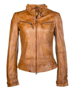 Lederjacke damen braun amazon