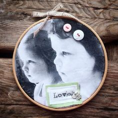 Embelished photo hoop photo gift embroidery hoop gift new baby gift wedding gift… Baptism Decorations, Wedding Decorations, Gifts For Mum, New Baby Gifts, Unique Wedding Gifts, Gift Wedding, Grandparent Gifts, Jewelry Crafts, New Baby Products