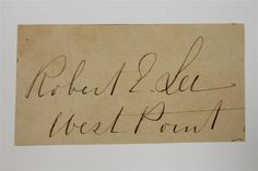 Robert E Lee Extremely RARE Only Known Full Script Signature JSA LOA Cut | eBay