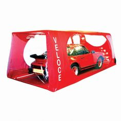 Indoor Veloce Carcoon Car Bubble Red