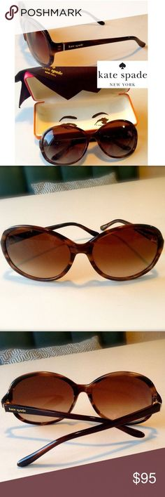 HOST PICK!! 😎 Kate Spade Sunglasses These elegant brown tortoise Kate Spade sung... Sunglasses Accessories, Women Accessories, Kate Spade Sunglasses, Plus Fashion, Fashion Tips, Fashion Trends, Tortoise, Elegant, Gold Accents