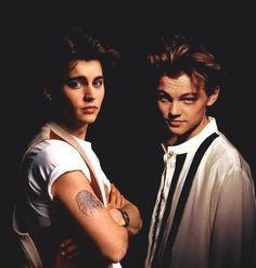 Young Johnny Depp & Leonardo DiCaprio