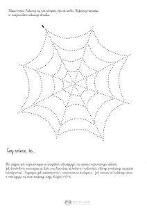 pajęczyna - połącz kropki -karta pracy dla dzieci