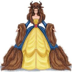 Wear your Beast by Shamekh Bluwi 🥀 Fashion Illustration Sketches, Fashion Sketches, Illustration Art, Beauty And The Best, Disney Beauty And The Beast, Beauty And The Beast Drawing, Princesa Disney, Film D'animation, Disney Drawings