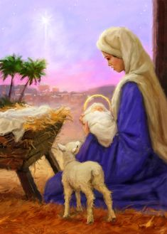 Leading Illustration & Publishing Agency based in London, New York & Marbella. Christmas Nativity Scene, Nativity Scenes, Christmas Time, Birth Of Jesus, Favorite Cartoon Character, Jesus Pictures, Love Drawings, Blessed Mother, Christen