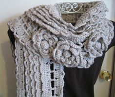 Bella Fiore Shawl by AStitchInTimeCraft on Etsy, $150.00