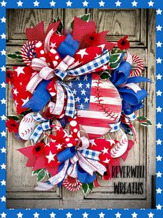 Tulle Wreath, Grapevine Wreath, Burlap Wreath, Fourth Of July Decor, 4th Of July Wreath, July 4th, Patriotic Wreath, Patriotic Decorations, Deco Mesh Wreaths