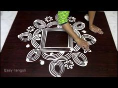 pongal kolam/makara sankranthi muggulu designs with colours/pongal rangoli - YouTube