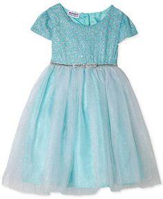 Blueberi Boulevard Little Girls' Metallic-Accent Ballerina Dress - Toddler Girls (2T-5T) - Kids & Baby - Macy's