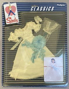 SINDY 'BEAUTIFUL BRIDE' 'CLASSICS' NRFB 1983 PEDIGREE VINTAGE | eBay Yellow Jumpsuit, Sindy Doll, Bride Dolls, Brunette To Blonde, Vintage Branding, Doll Head, Bridal Outfits, Bridal Sets, Dark Hair
