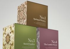 Candle Packaging by Pete Gaskell, using antique Victorian tiles, and a great eye for type too.