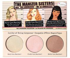 The Manizer Sisters The Manizer Sisters palette comprises three triple-milled multi-tasking highlighter, shimmers and shadows. These champagne, rose, and golden-bronze shades are flattering on all pores and skin tones… Makeup Goals, Makeup Tips, Beauty Makeup, Makeup Stuff, Beauty Box, Beauty Stuff, Makeup Tutorials, Makeup Ideas, Beauty Tips
