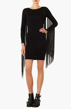 Topshop Fringe Body-Con Dress available at #Nordstrom