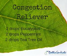 Want to decongest? Ease a stuffy nose with this diffuser blend. Use in your…