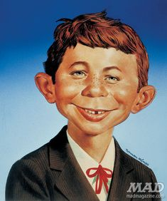 Norman Mingo, mascot character Alfred E. Neuman, 1956.