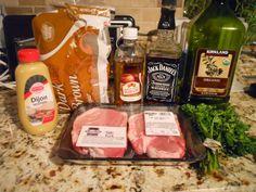 Whiskey pork chops