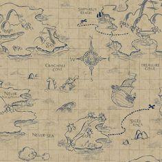 "Walt Disney Kids II Pirate Map 33' x 20.5"" Wallpaper | Wayfair"