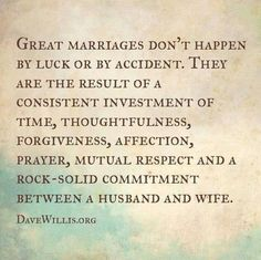 GREAT MARRIAGE REQUIREMENTS