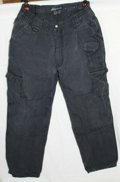 dafedcca 511 Tactical Series Mens Utility Cargo 34 x 30 Pants Dark Navy 100% Cotton  GUC