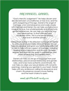 Archangel Daniel card.   Printed on 310gsm laminated, linen card stock. You get an Archangel cards included with our Archangel crystal bracelets, or they\'re available as a set of seventeen cards!