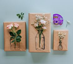 Try this Simple Floral Gift Wrapping Clever Poppy DIY Gift Wrap Mother s Day Gift Ideas Kraft Paper Arts and Crafts What exactly are arts 038 crafts nbsp hellip Creative Gift Wrapping, Creative Gifts, Wrapping Gifts, Cute Gift Wrapping Ideas, Diy Wrapping Paper, Christmas Gift Wrapping, Christmas Diy, Christmas Presents, Birthday Gift Wrapping