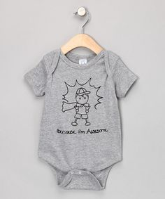 Take a look at this Gray 'Awesome' Bodysuit - Infant by Rainbow Swirlz on #zulily today!