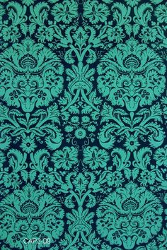 Amy Butler Fabric - Acanthus in Teal from Belle