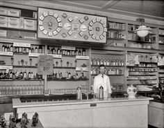 """Washington, D.C., circa 1921. """"People's Drug store, 31st & M Streets N.W., soda fountain."""" National Photo Company Collection glass negative."""