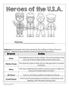 VETERANS DAY MINI BOOK FREEBIE FOR GRADES 3-5 - TeachersPayTeachers.com