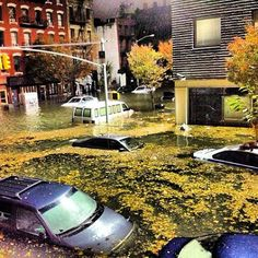 NYC. October 29, 2012.  Among the areas affected by the power outage are Tribeca, the East Village, Brooklyn, Manhattan and Battery Park.