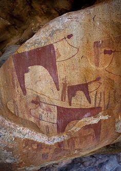Laas Geel Rock Art Caves, Paintings Depicting Milk Cows, Somaliland