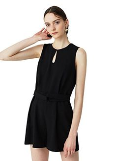 f3be171bc66 Mango Womens Belt Detail Jumpsuit Black Xxs   Continue to the product at  the image link