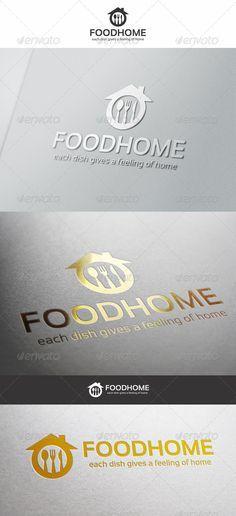 Buy Food Home Cuisine Logo by djjeep on GraphicRiver. Food Home Cuisine Logo – Simple, unique and elegant cuisine logo emblem – An excellent logo template highly suitable . Logo Restaurant, Resturant Logo, Food Logo Design, Logo Food, Branding Design, Web Design, Logo Chef, Logo Service, Fast Food Logos