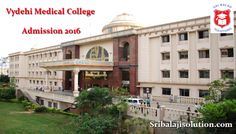 Vydehi Medical College (VMC) -  Sri Balaji Solution is the leading educational admission consultancy in Bangalore. We provide admissions in all top colleges and universities. http://www.sribalajisolution.com/medical-bangalore/vydehi-institute-of-medical-sciences.html